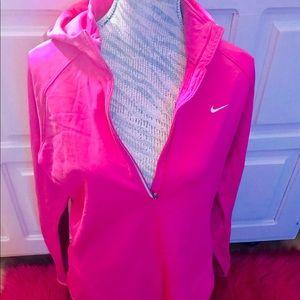 Hot pink Nike dry fit hoodie sweater